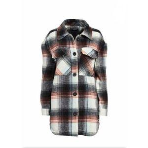 Hurley Button Up Sail Mantra Plaid Shacket Jacket